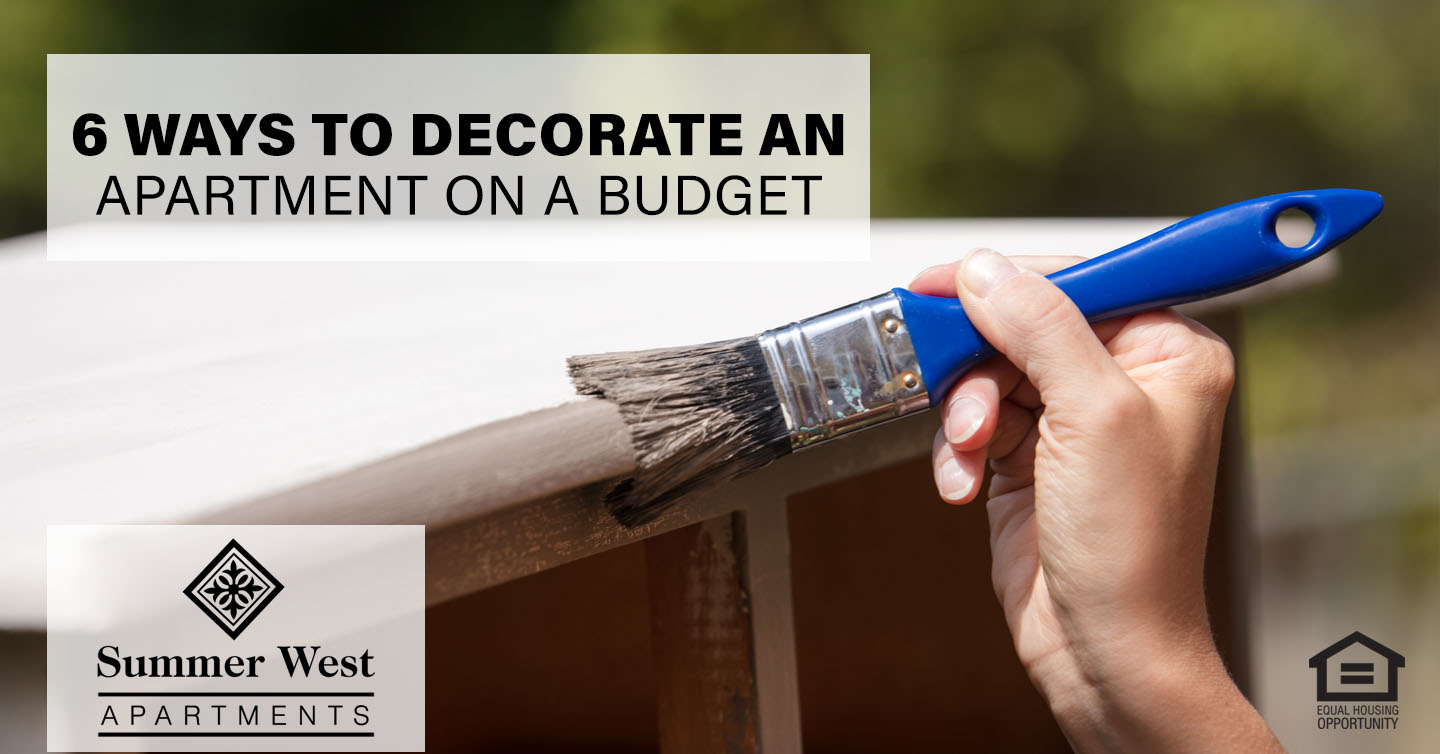 ways to decorate an apartment on a budget