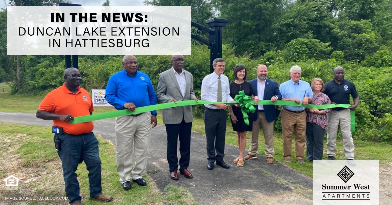 In the News: Duncan Lake Extension in Hattiesburg